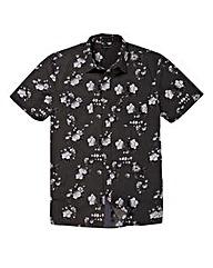 Firetrap Olly Dark Floral Print Shirt R