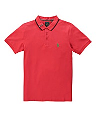 Luke SportMead Pique Marina Red Polo Reg