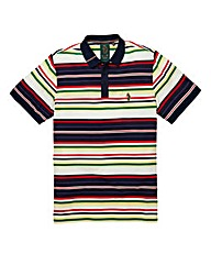 Luke Honestly Striped Dark Navy Polo Lon