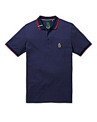 Luke Sports Mead Pique Navy Polo Long