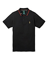 Luke Sports Mead Pique Black Polo Long