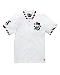 Crosshatch Wayback White Polo