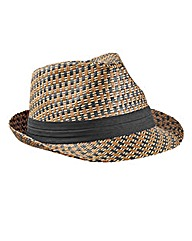 Label J Basket Weave Trilby Hat