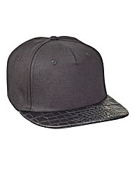 Label J Mock Croc Peak Snapback