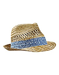 Williams & Brown Floral Band Trilby Hat