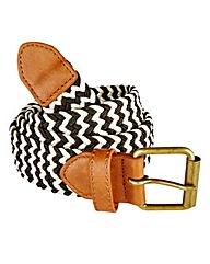 Label J Braided Stretch Belt