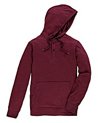 Jacamo Wine Fleck Hooded Top Reg