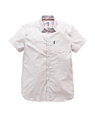 Lambretta Watson White Print Shirt Long