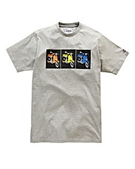 Lambretta Square Box Grey T-Shirt Reg