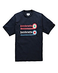 Lambretta Roundabout Navy T-Shirt Long