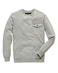 Voi Finlay Grey Marl Crew Knit