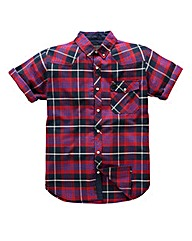 Voi Serge Short Sleeve Check Shirt Reg