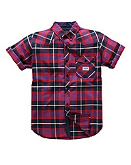Voi Serge Short Sleeve Check Shirt Long