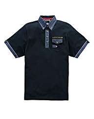Hamnett Gold Ario Navy Polo Regular