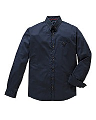 Hamnett Gold Mallan Navy Shirt Long