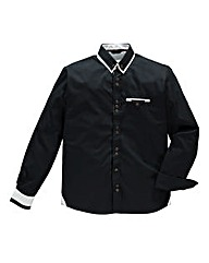 Hamnett Gold Darius Black Shirt Regular