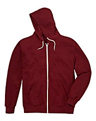 Jacamo Burgundy Full Zip Hoodie Long