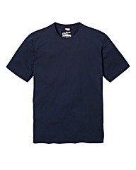 Jacamo Navy Dallas Crew Neck Tee R
