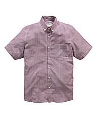 Jacamo Plum Archer Short Sleeve Shirt L