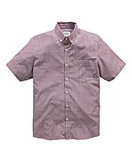 Jacamo Plum Archer Short Sleeve Shirt L