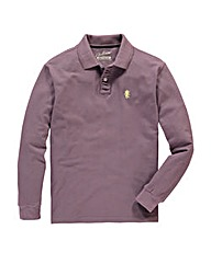 Jacamo Plum Long Sleeve Griffin Polo Reg