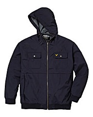 Voi Prescott Navy Hooded Jacket Long
