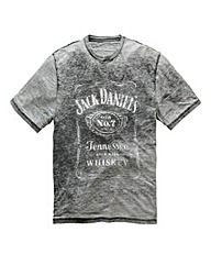 Jack Daniels Burnout T-Shirt Long