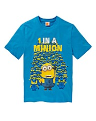 Minions 1 In A Minion Blue T-Shirt Long