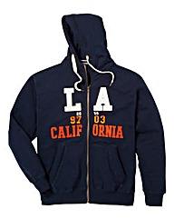 Jacamo Navy Oakland Full Zip Hoodie Reg