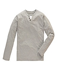 Jacamo Grey Long Sleeved Layered Tee L