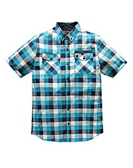Voi Morris Blue Check Shirt Long