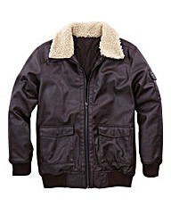 Jacamo Hyde PU Aviator Jacket