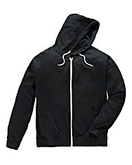 Jacamo Black Full Zip Hoodie Long