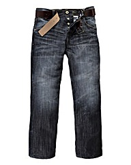 Crosshatch Techno Embossed Jean 33In