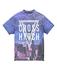 Crosshatch New York Night Blue T-Shirt