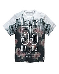 Crosshatch NYC Flowers Black T-Shirt