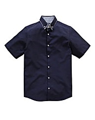 Black Label By Jacamo Arran Blue Shirt R