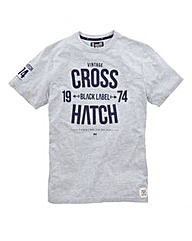 Crosshatch Bankster Grey Marl T-shirt
