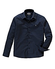 Peter Werth Textured Navy Cotton Shirt