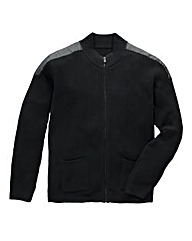 Black Label By Jacamo Harris Zip Knit R