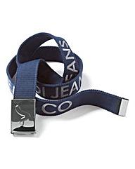 Voi Buck Navy Branded Canvas Belt