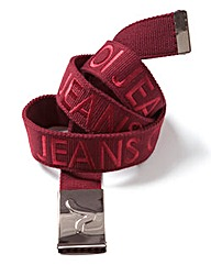 Voi Buck Wine Branded Canvas Belt