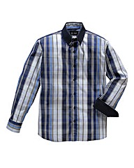 Black Label By Jacamo Ash Check Shirt R