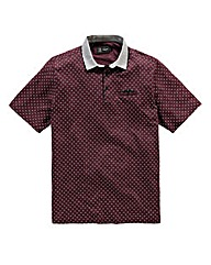 Black Label by Jacamo Errol Print Polo L