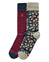 Original Penguin Pack Of 2 Print Socks