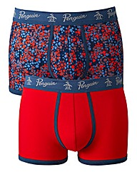 Penguin Pack 2 Print Multi Boxers