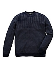 Black Label by Jacamo Textured Knit L