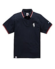 Lambretta Lion Chest Navy Polo Long