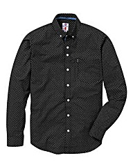 Lambretta Circle Printed Black Shirt Reg