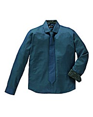 Black Label by Jacamo Clyde Teal Shirt L